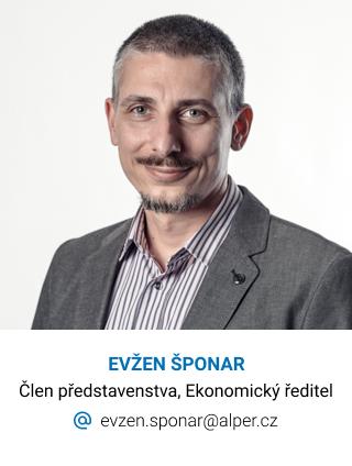 Alper, kontakt, Evžen Šponar